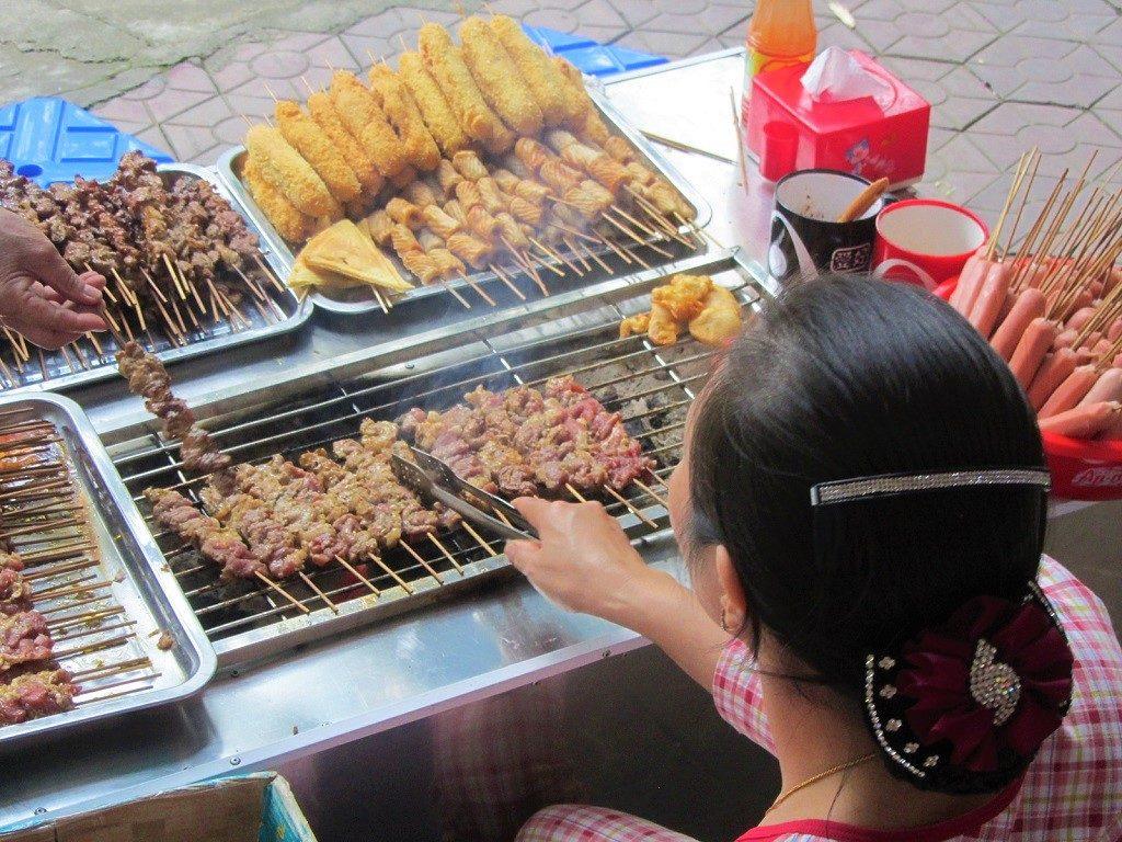 Street food in Lao Cai city, northern Vietnam