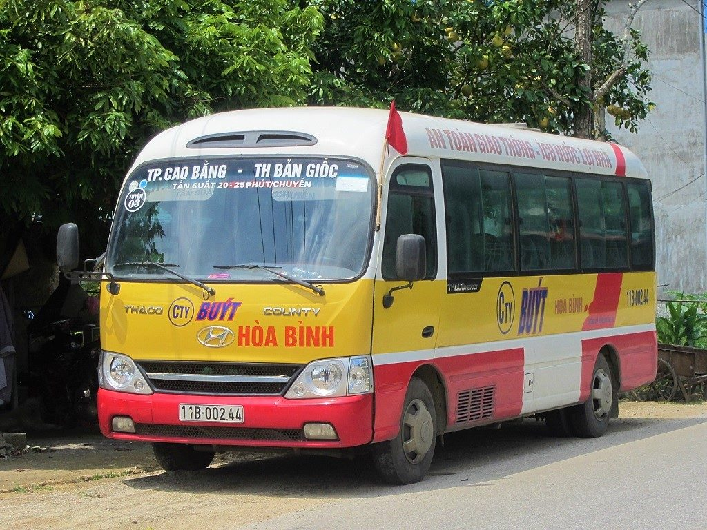 Local buses run between Cao Bang City & Ban Gioc Waterfall several times daily