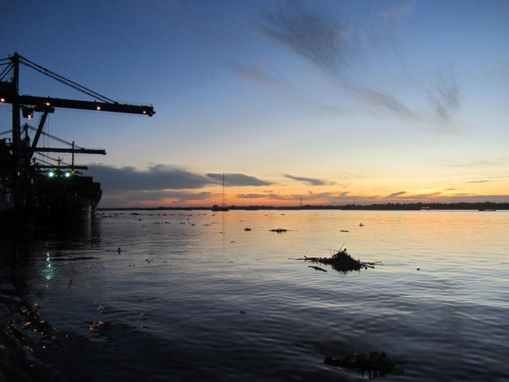 The Cat Lai docks at dawn, Saigon