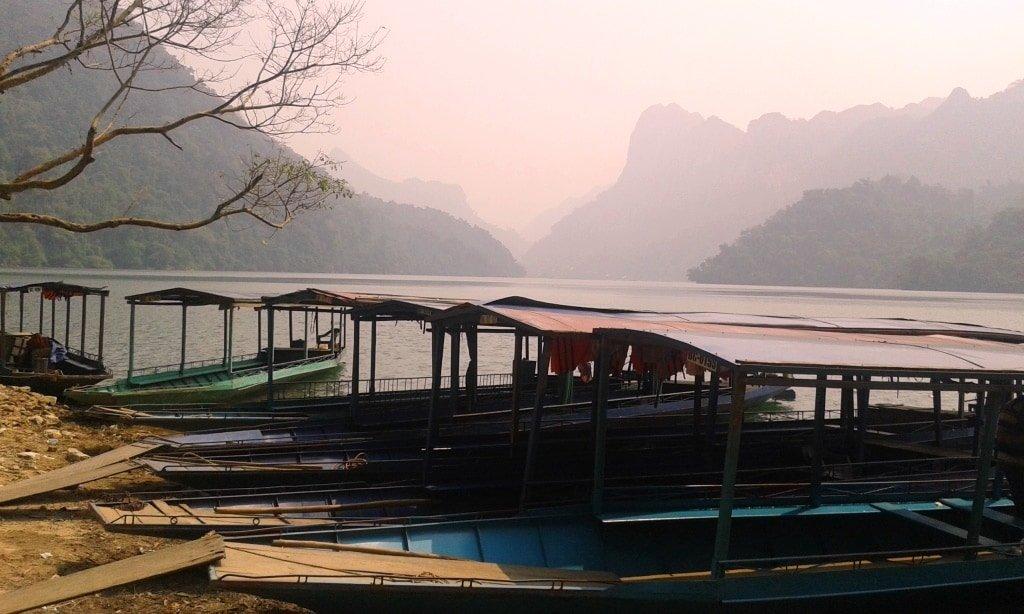 Boats on Ba Be Lake