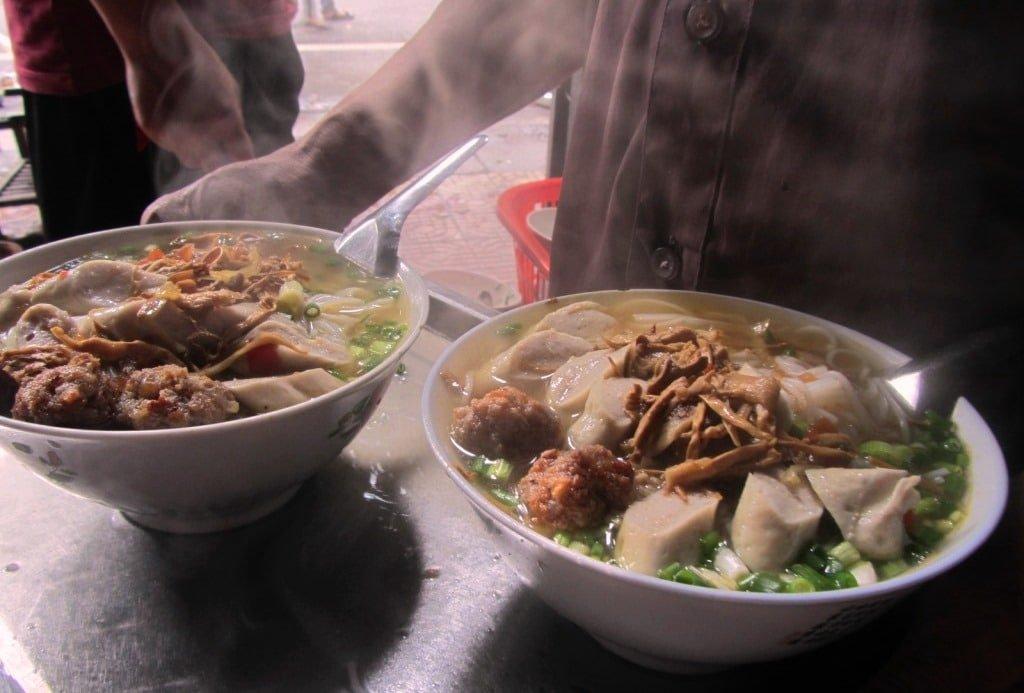 Bún chả at the Ha Giang soup house