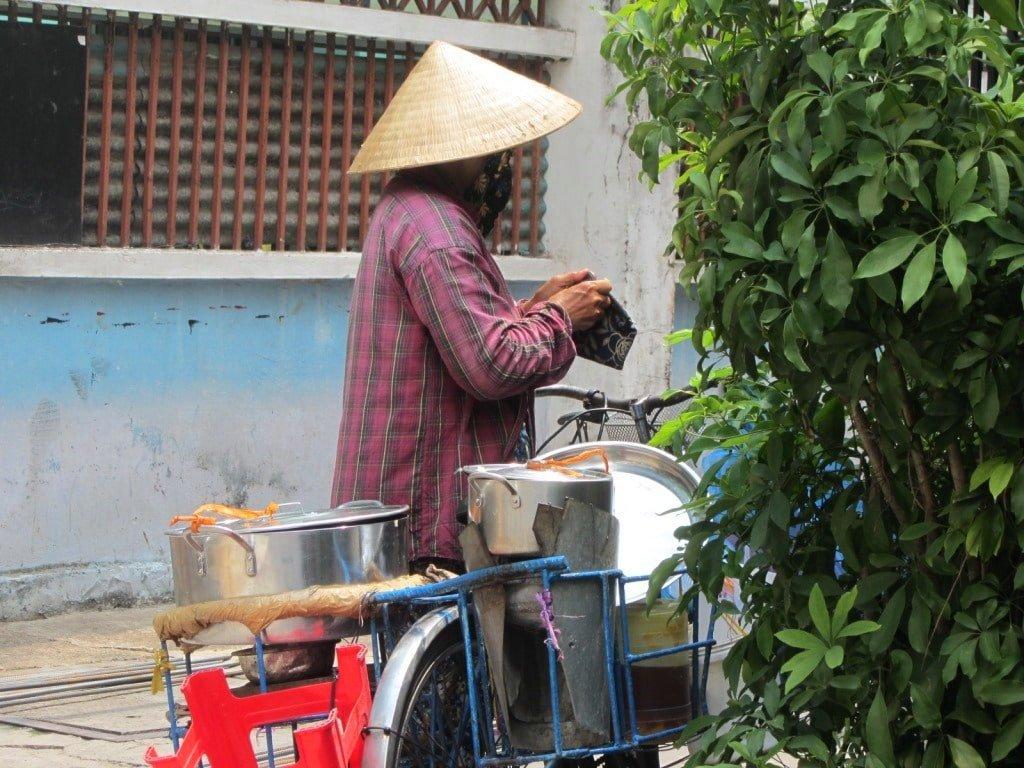 Street scene outside Ma Maison Hotel, Saigon