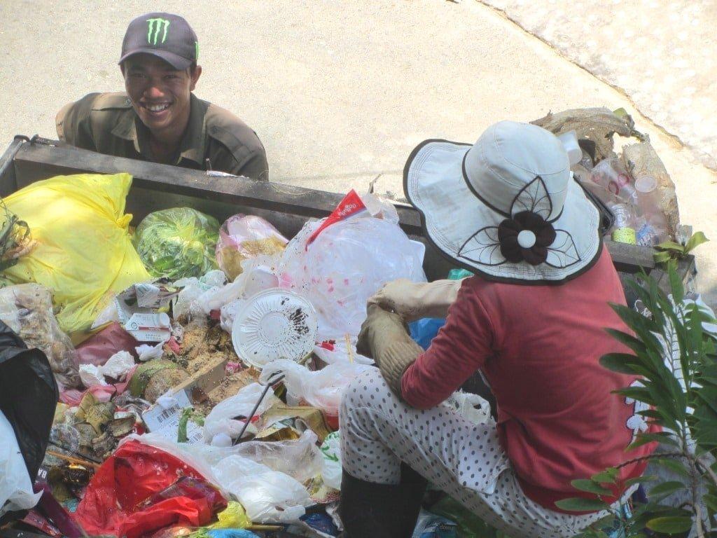 Trash collection in Vietnam