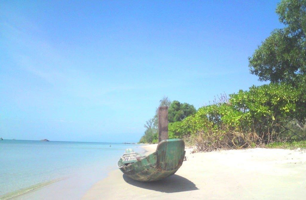Phu Quoc beach, southern dry season