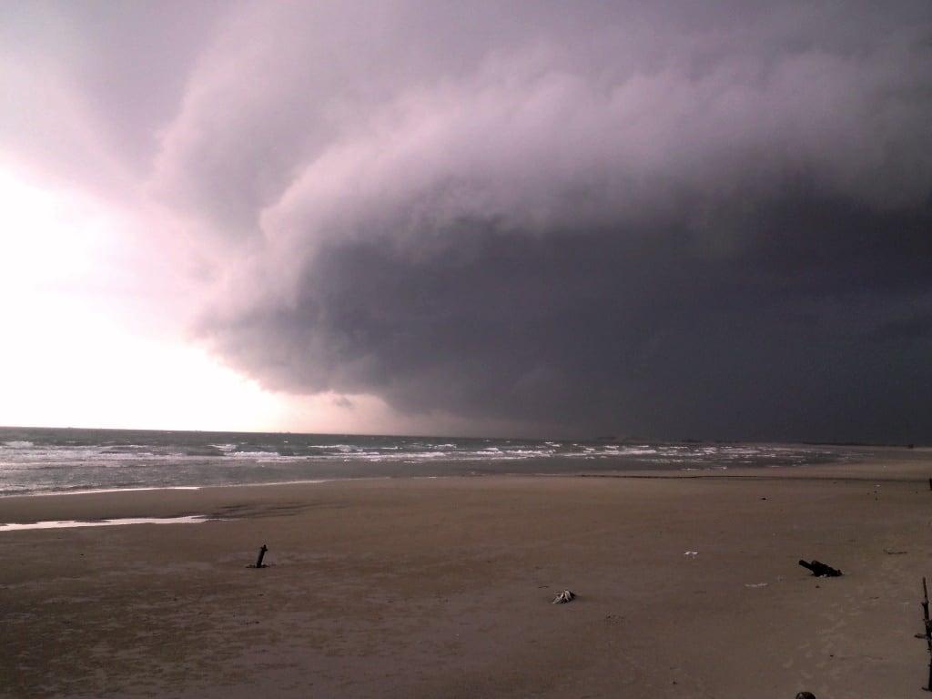 Storms, summer in central Vietnam
