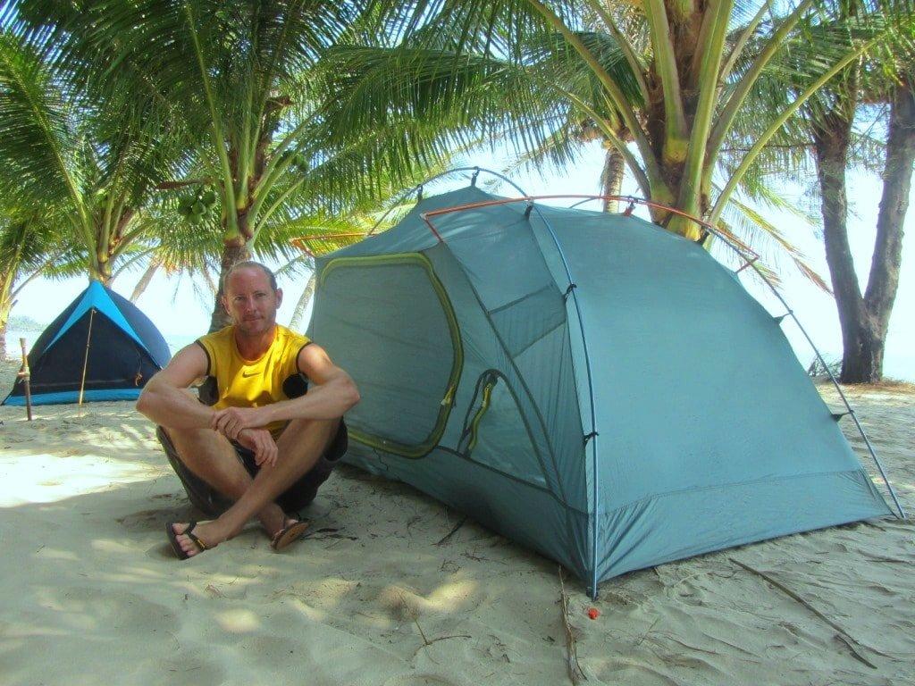 Camping on the beach, Dat Lanh Resort, Lagi