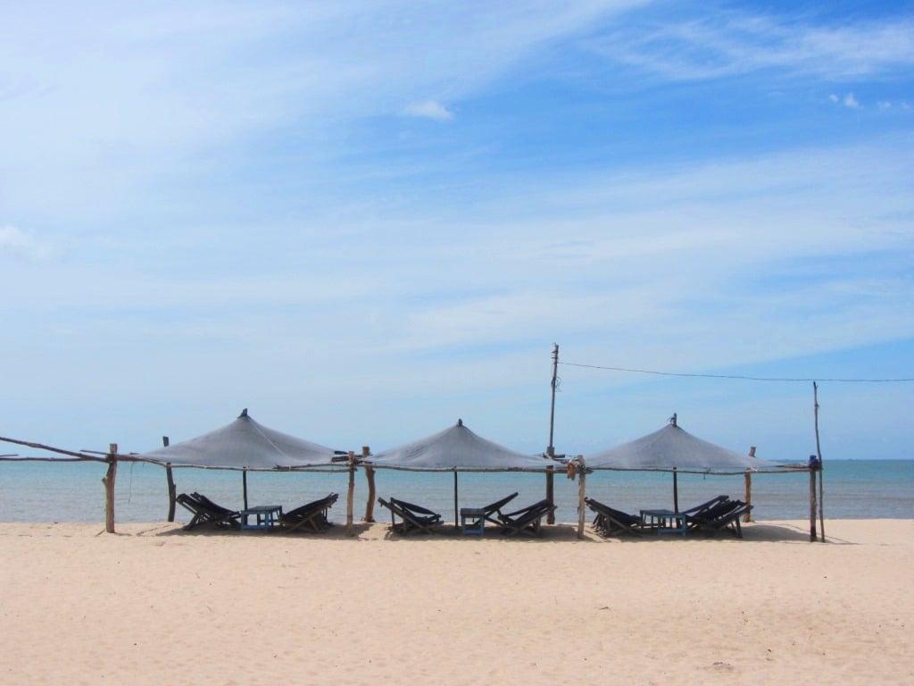 Camping on Ho Tram Beach