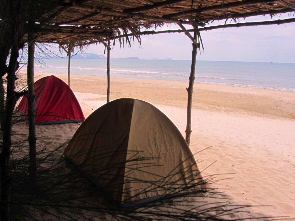 Beach camping, Long Son, Mui Ne