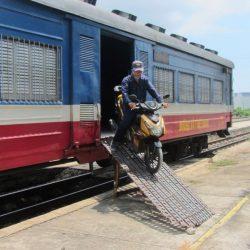 Saigon to Phan Thiet by Train: Passengers & Motorbikes