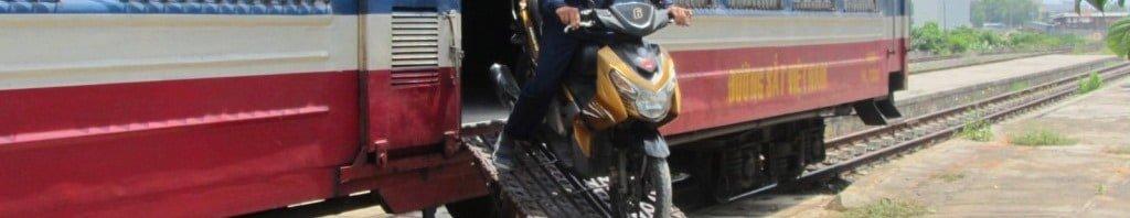 Motorbike on the train: Saigon to Phan Thiet