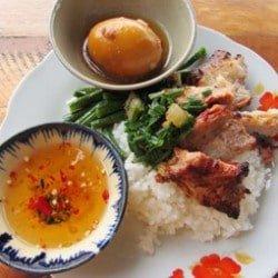 Com Tam, broken rice, Saigon, Vietnam