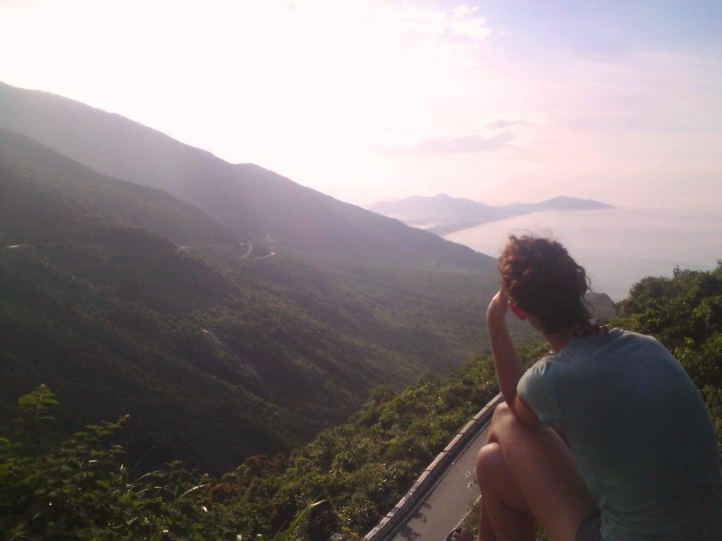 View from the top of the Hai Van Pass, Vietnam