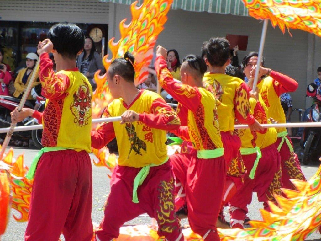 Dragon dance, Phan Thiet, Tet Lunar New Year, Vietnam