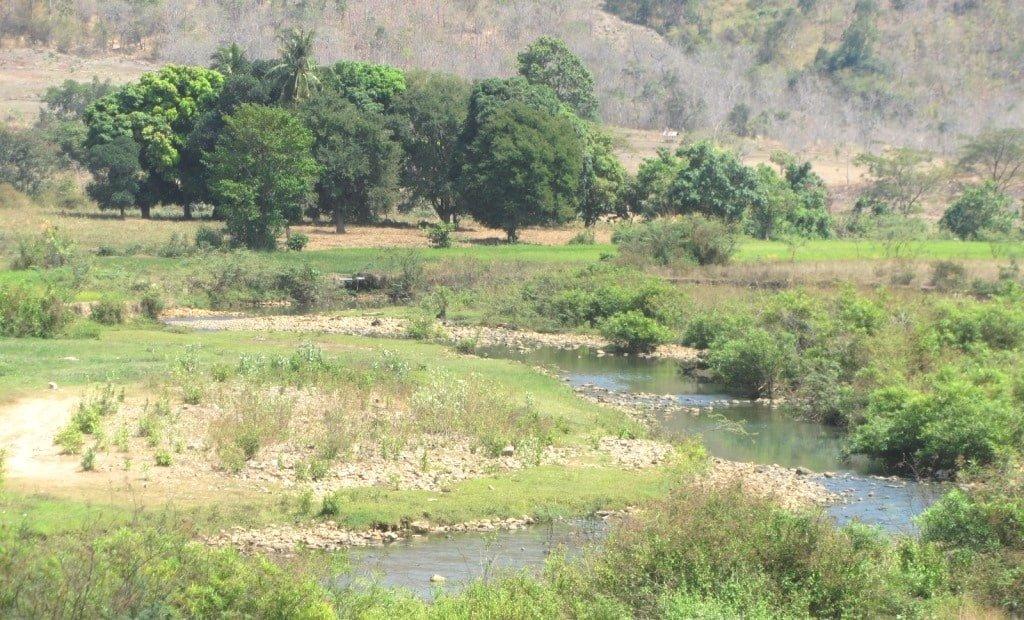 River landscape, inland Binh Thuan Province, Vietnam