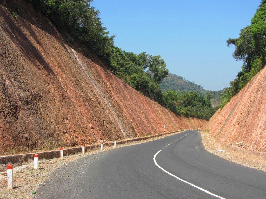 The new Highway QL55B, Binh Thuan Province, Vietnam