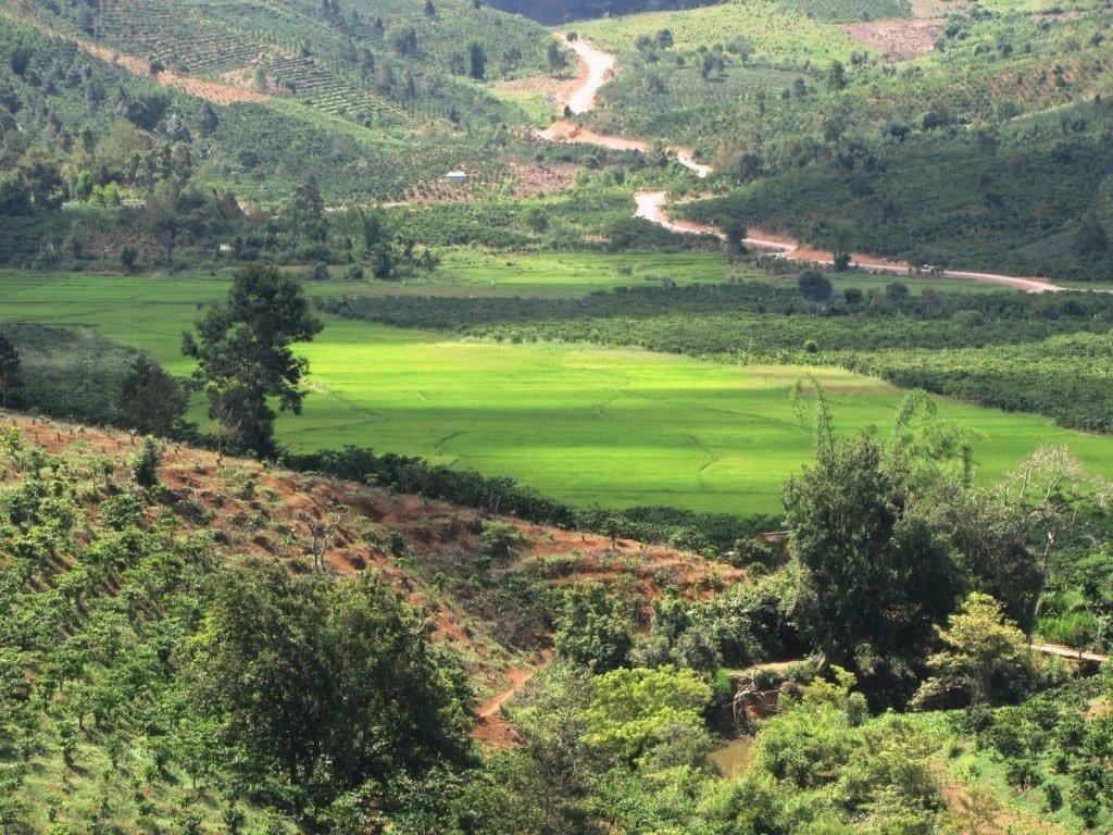 The La Ngà River valley, Binh Thuan Province, Vietnam