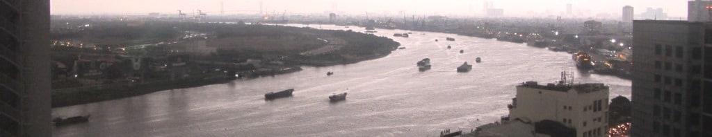 The Saigon River, Vietnam