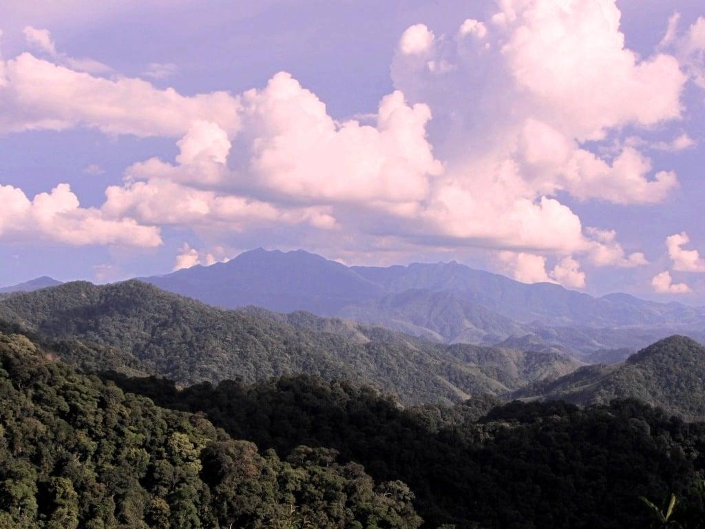 Mountains near the Lao border, Ho Chi Minh Road, Vietnam