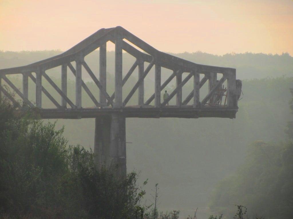 Derelict bridge, Ho Chi Minh Road, Vietnam