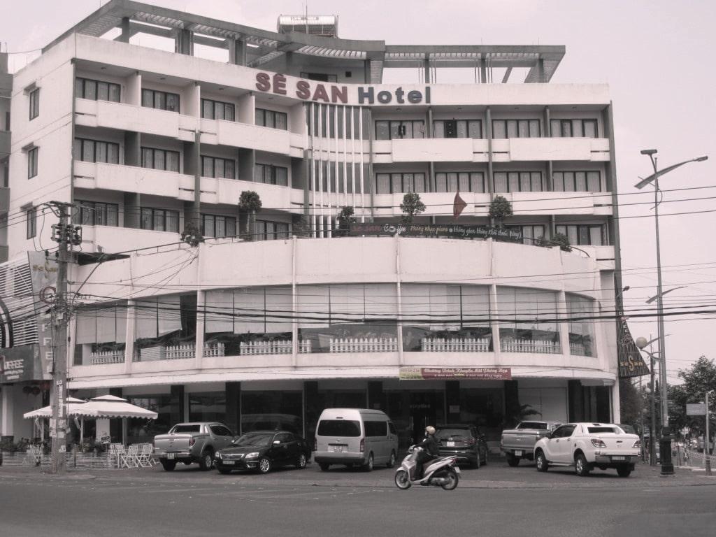 Soviet-era architecture, Pleiku, Ho Chi Minh Road, Vietnam
