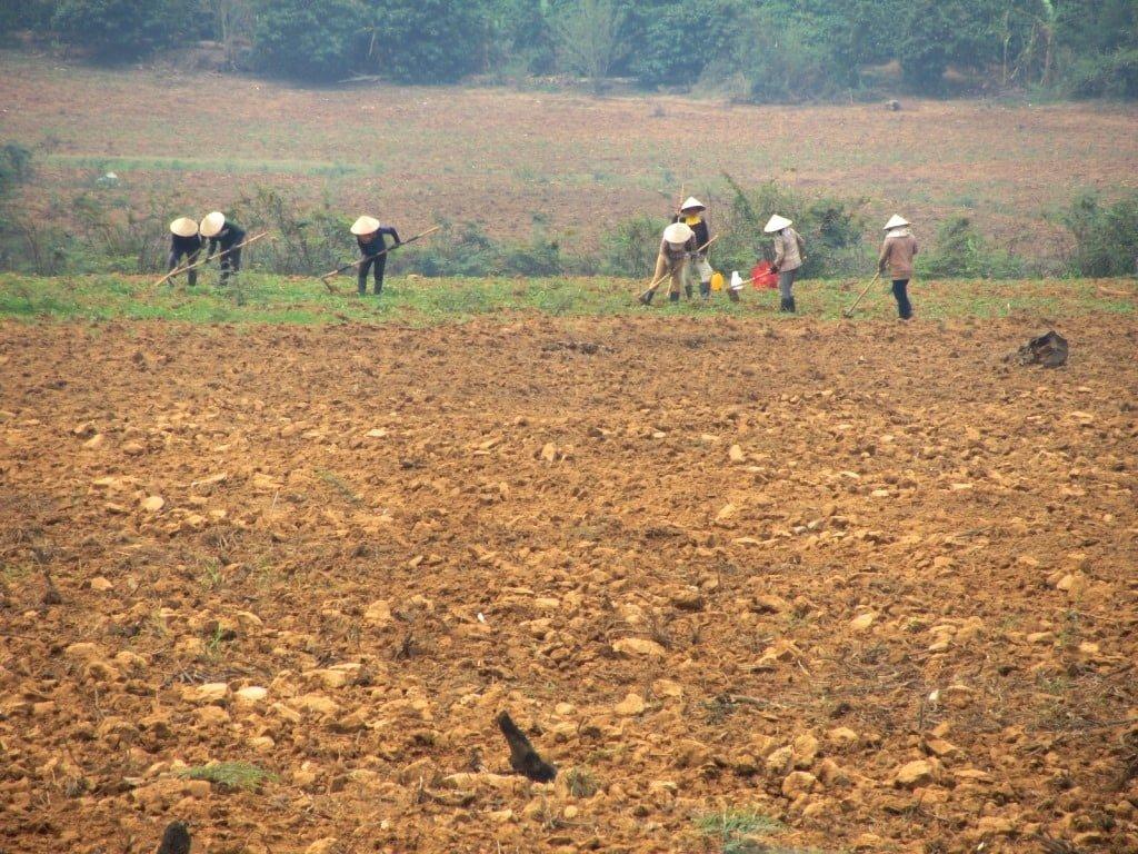 Farming near Kon Tum, Ho Chi Minh Road, Vietnam