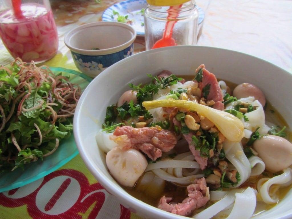Mì quảng noodles, Kham Duc, Ho Chi Minh Road, Vietnam