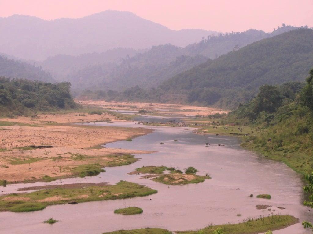 River landscape on the Ho Chi Minh Road, Vietnam