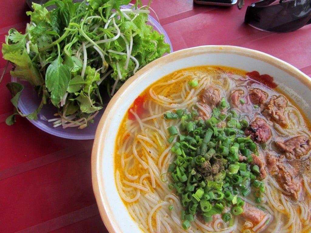 Bún bò Huế noodle soup, A Luoi, Ho Chi Minh Road, Vietnam