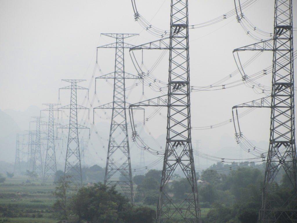 Power lines, Xuan Mai, Ho Chi Minh Road, Vietnam
