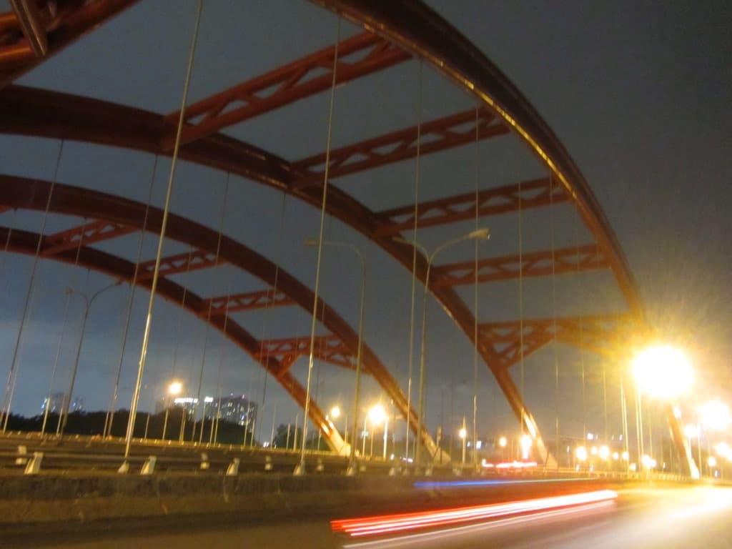 Ong Lon Bridge at night, Binh Chanh District, Saigon