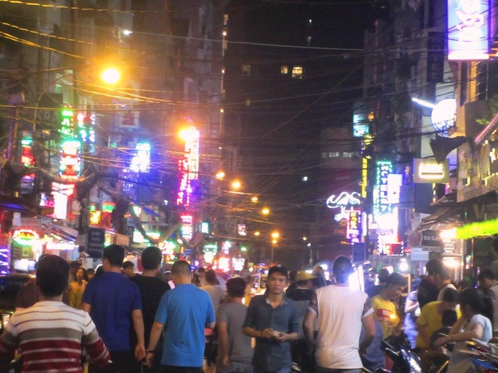 Night on Bui Vien, Pham Ngu Lao, Saigon