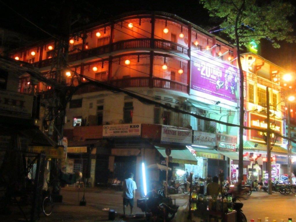 Chinatown at night, Saigon, Vietnam