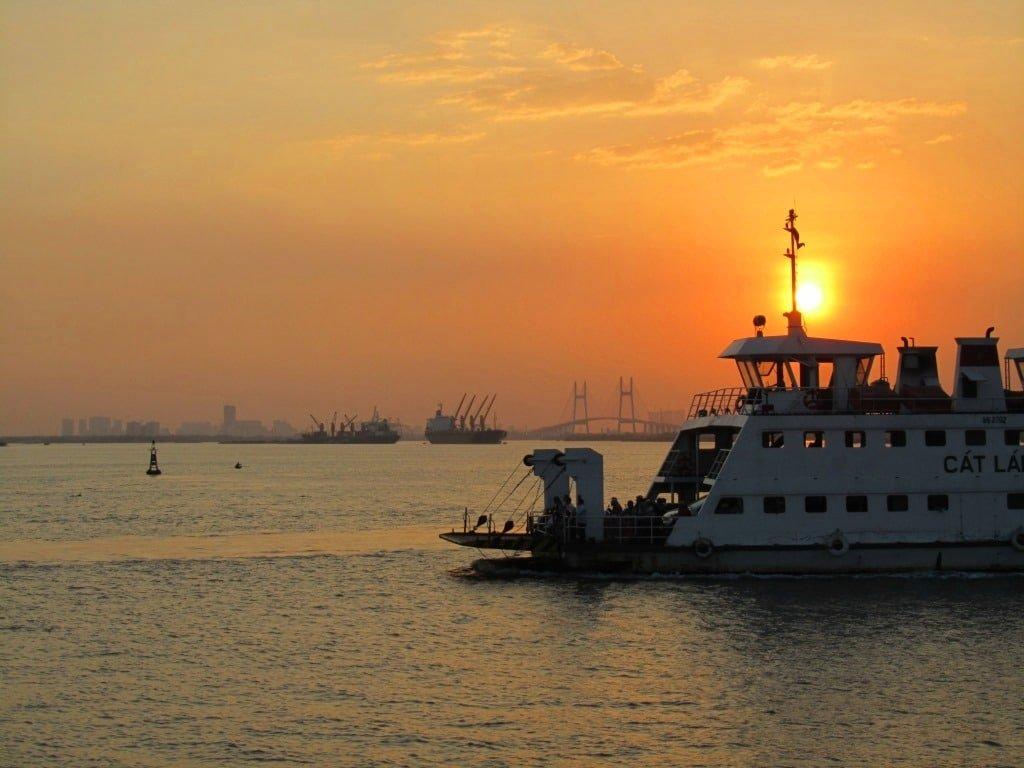 The Cat Lai ferry, Saigon, Vietnam