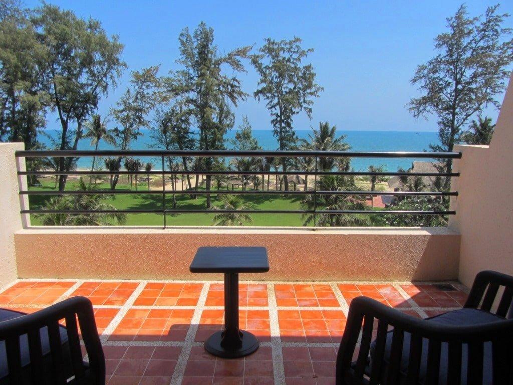 Balcony of sea-view room at Ocean Dunes Resort, Phan Thiet, Vietnam