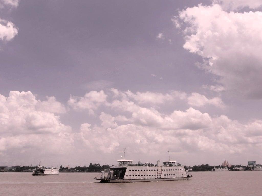 The Vam Cong Ferry to Long Xuyen, Mekong Delta, Vietnam