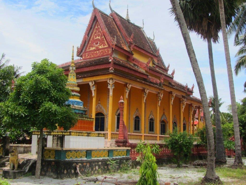 Khmer temple, An Giang Province, Mekong Delta, Vietnam
