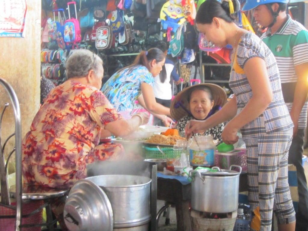 Central market at Tri Ton, An Giang Province, Mekong Delta, Vietnam
