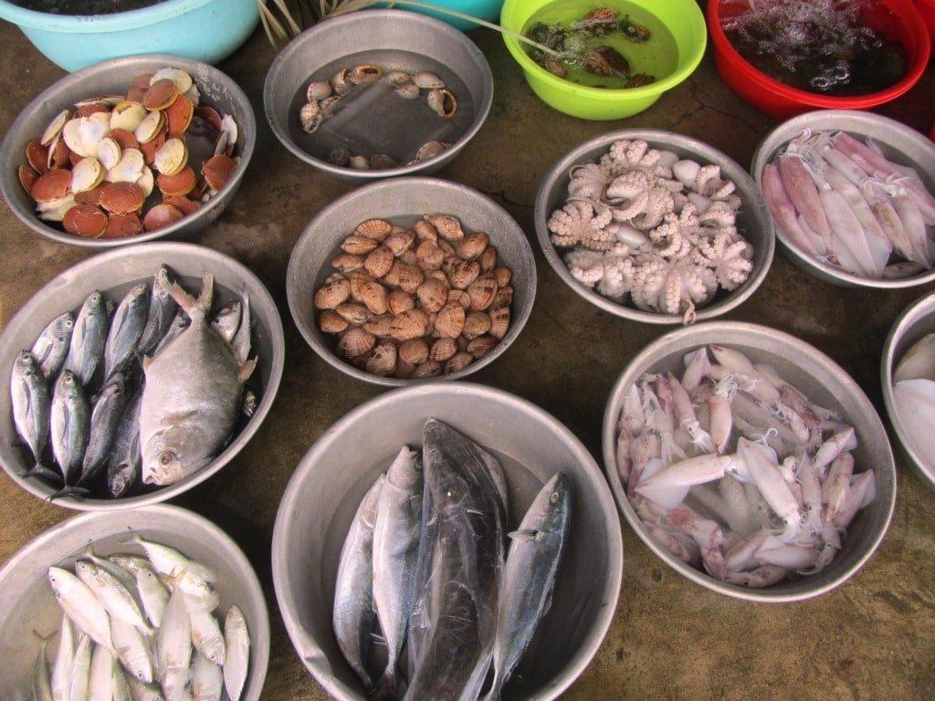 Seafood at Ho Tram Beach, Vietnam