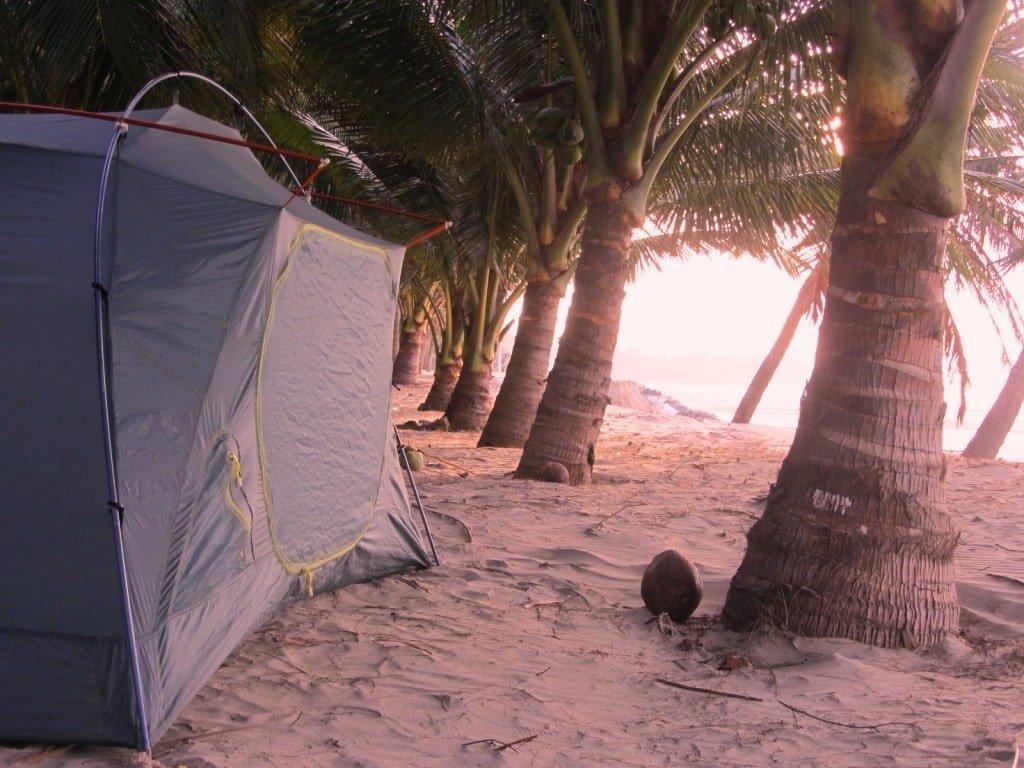 Camping on Ho Coc Beach, Vietnam