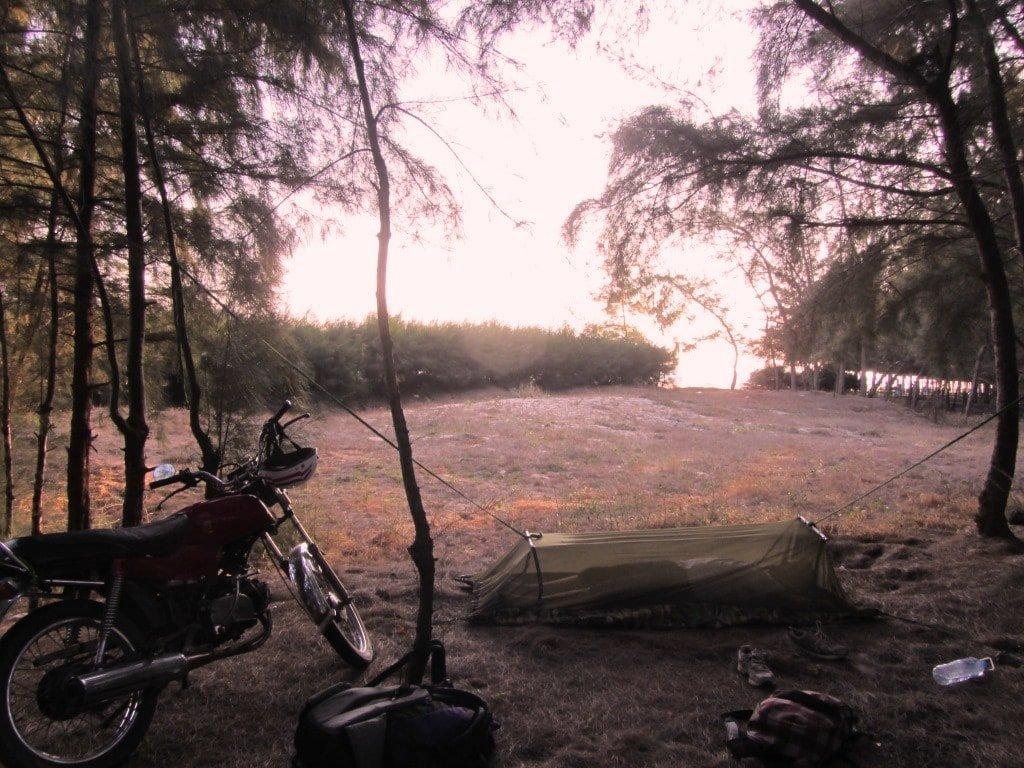 Camping on Ho Tram Beach, Vietnam