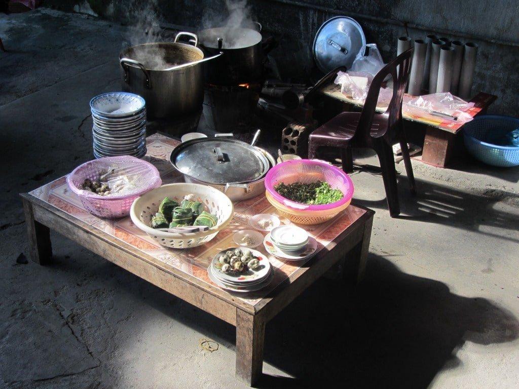 Cooking ingredients in norther Vietnam