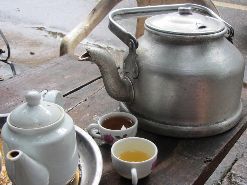 Fresh leaf green tea, northern Vietnam