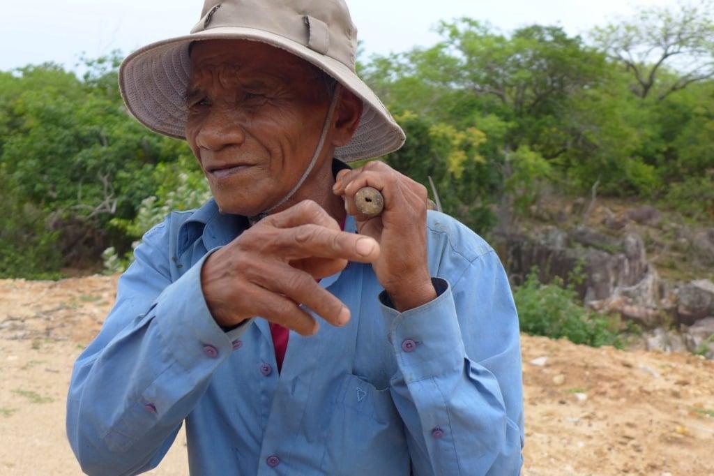 Meeting a local farmer, Vietnam