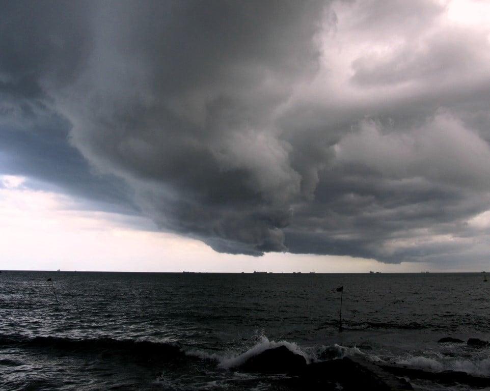 Rainy season storm, Vung Tau, Vietnam
