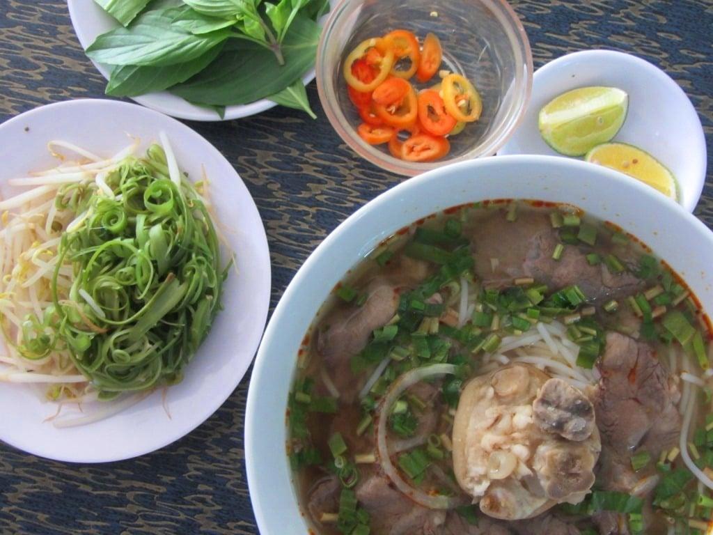 Bún bò (beef noodle soup), Saigon, Ho Chi Minh City, Vietnam