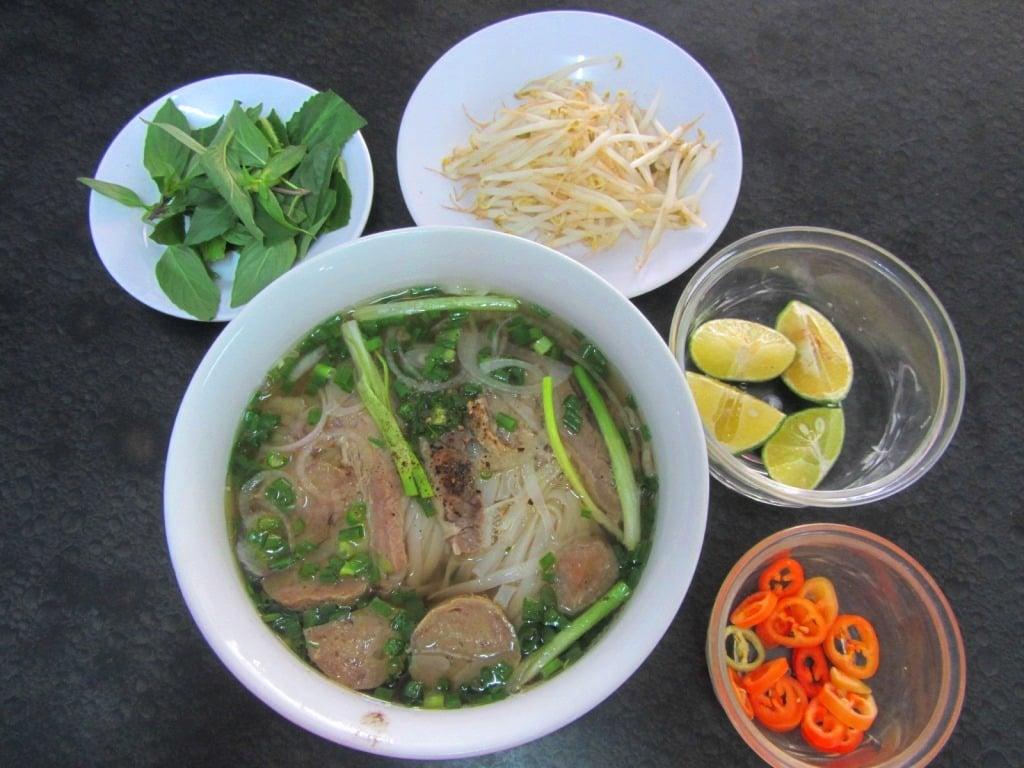 Phở  (beef noodle soup), Saigon, Ho Chi Minh City, Vietnam