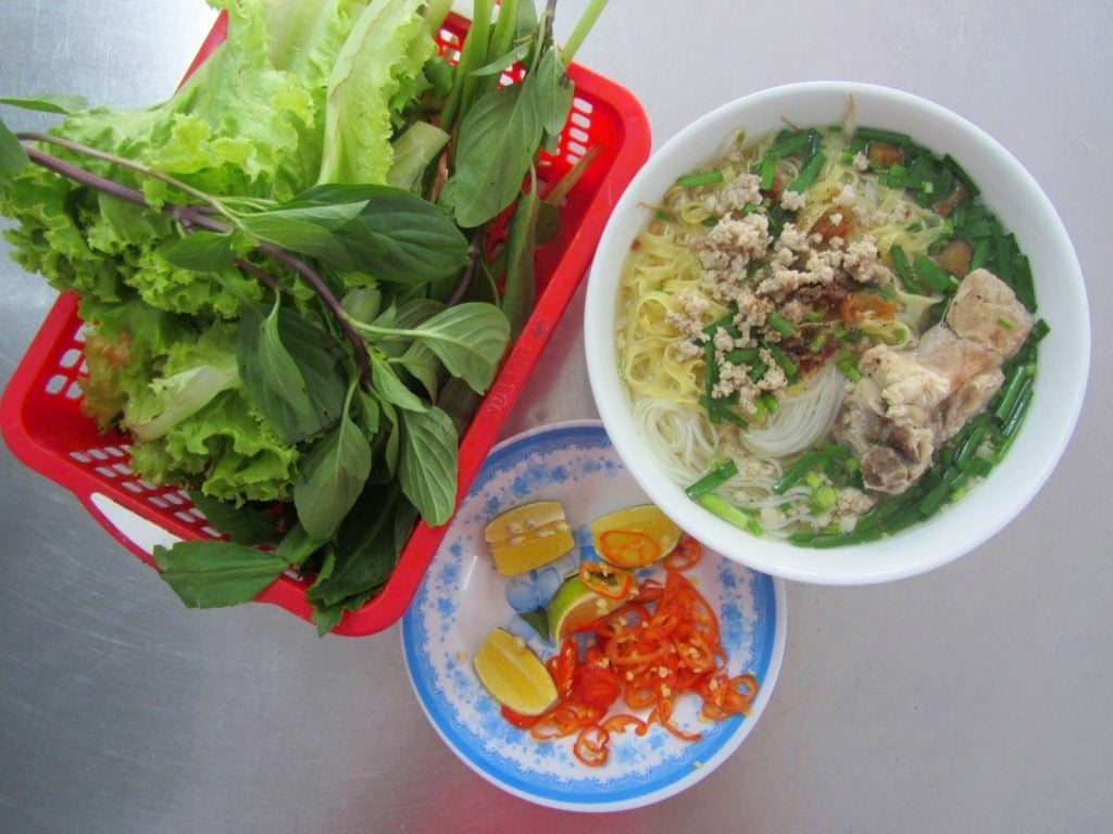 Hủ tiếu (rice vermicelli noodle soup), Saigon, Ho Chi Minh City, Vietnam