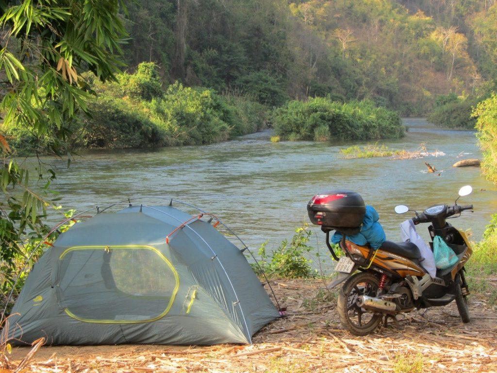 Camping by La Nga River, Binh Thuan Province, Vietnam