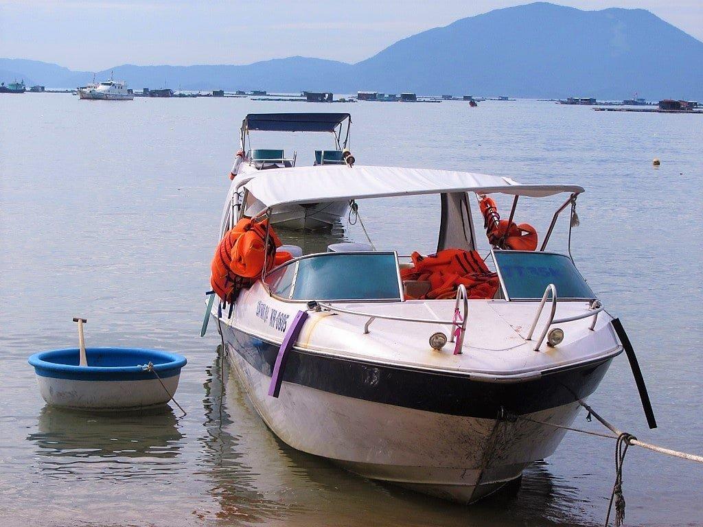 The boat to Diep Son Island, Van Gia, Vietnam