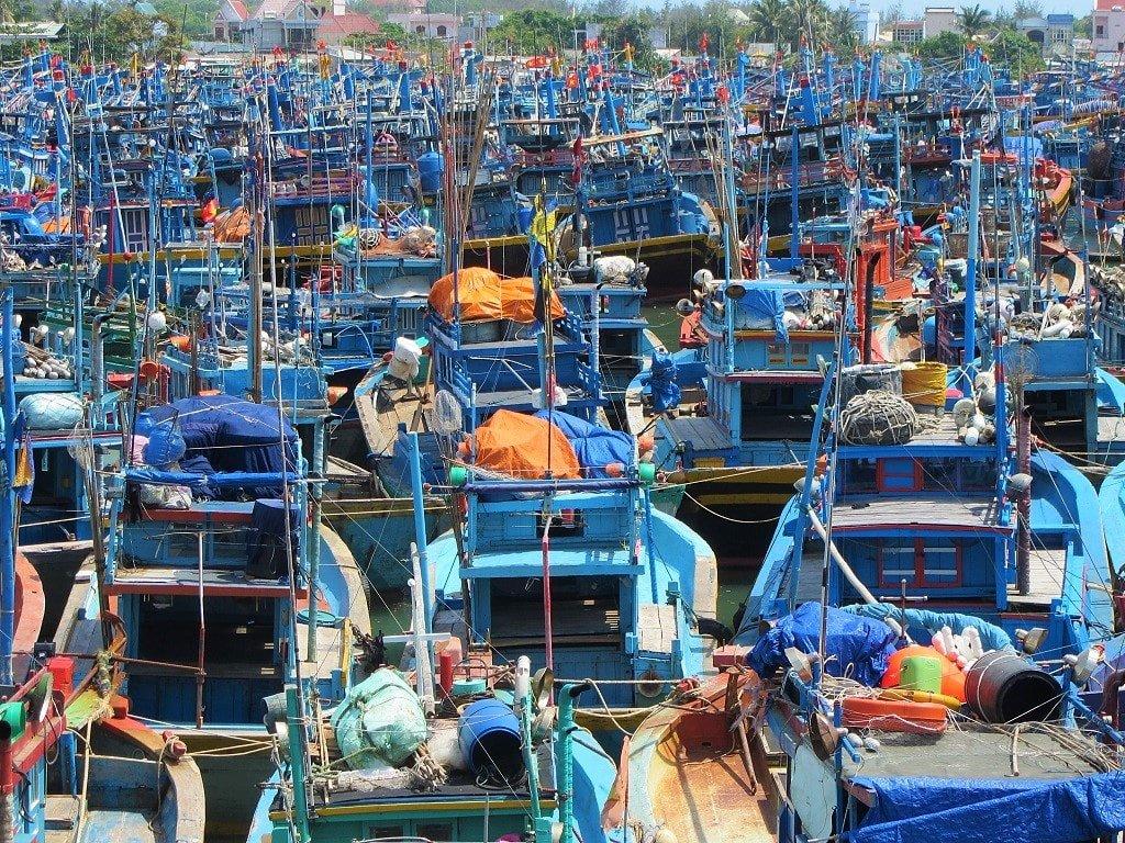 Fishing boats in Lagi, Vietnam